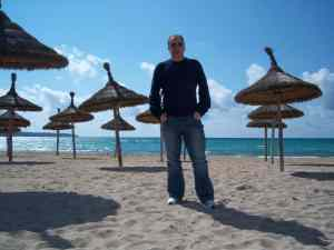 Jeff on Beach at Mallorca - has nothing to do with this post!